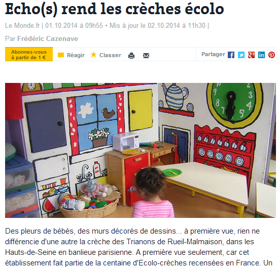 Article du journal Le Monde