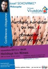 Conférence Joseph Schovanec vivre avec autisme