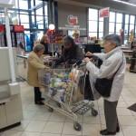 Les courses au supermarché